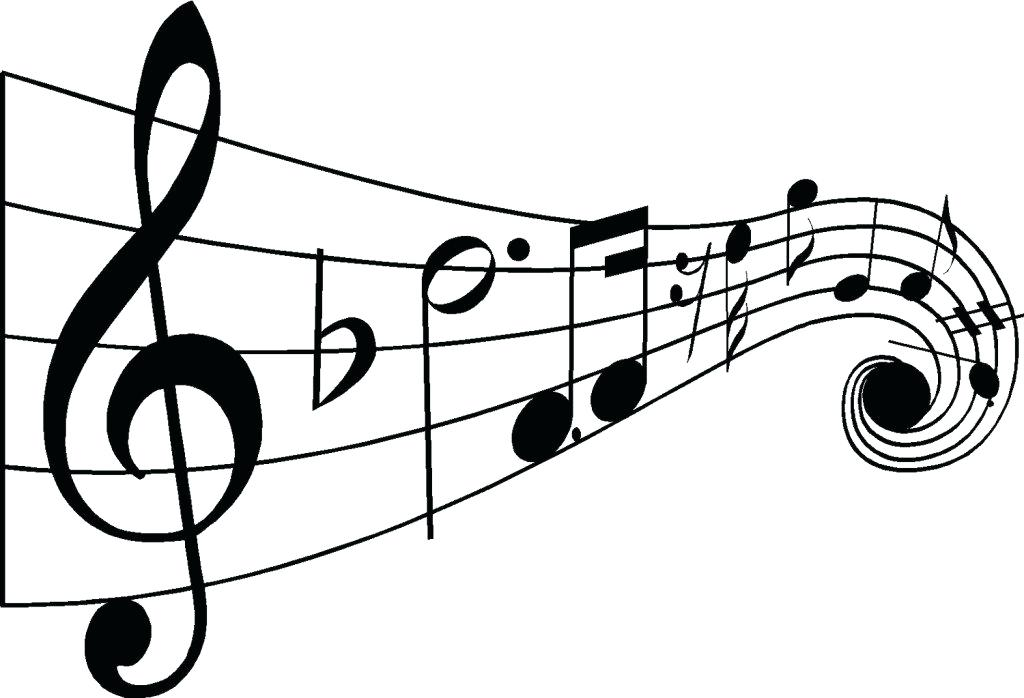 1024x698 Music Notes Drawing Coloring Page Download Print Online Pages