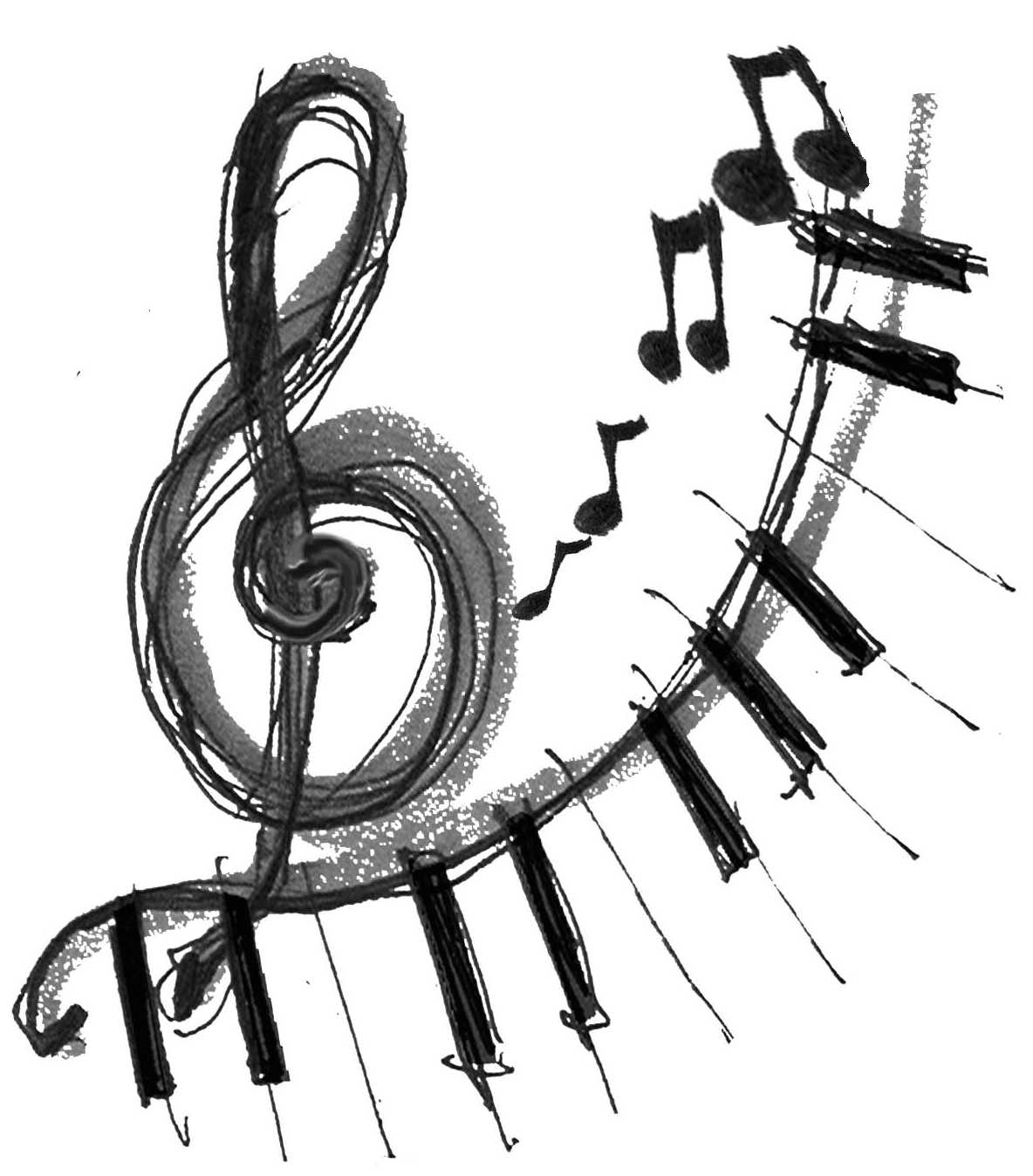 1184x1348 Music Notes Tattoo Sketch