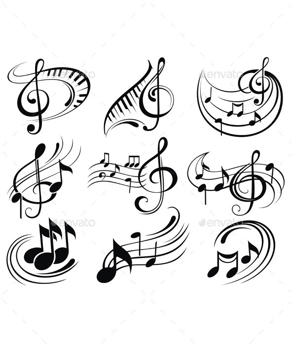 590x700 Music Notes by ksyxa GraphicRiver