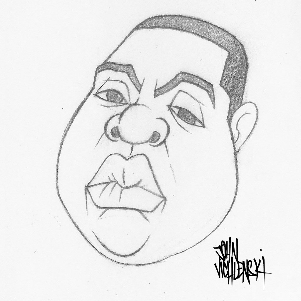 1024x1024 Biggie Smalls Drawing Pencil Drawing Of The Notorious B.i.g.