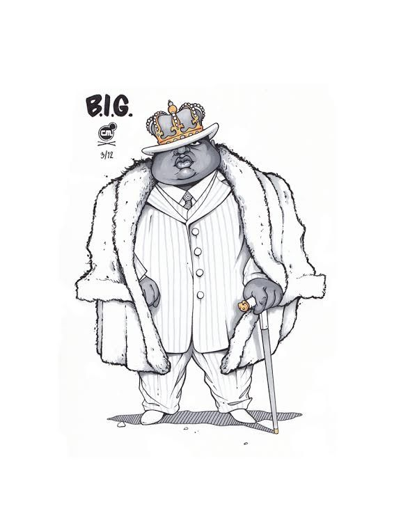 566x754 Illustration Of Notorious B.i.g. By Chris B. Murray For Re