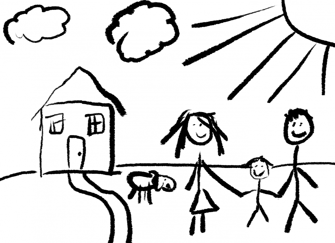 Nuclear Family Drawing