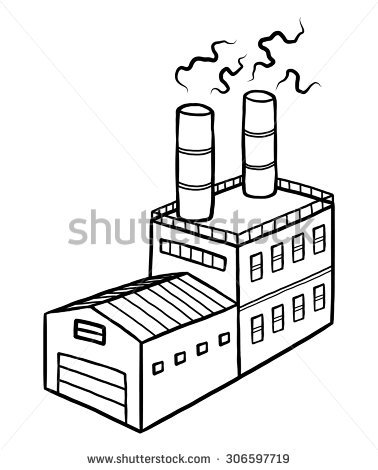 378x470 How To Draw Factory Industrial Factory Cartoon Vector Illustration