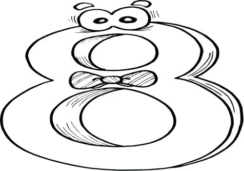 476x333 Number 10 Coloring Page Coloring Trend Medium Size Number 1