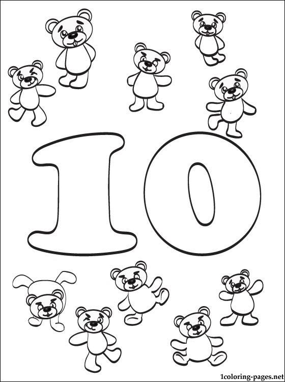 560x750 Number 10 Ten Coloring Page Pages