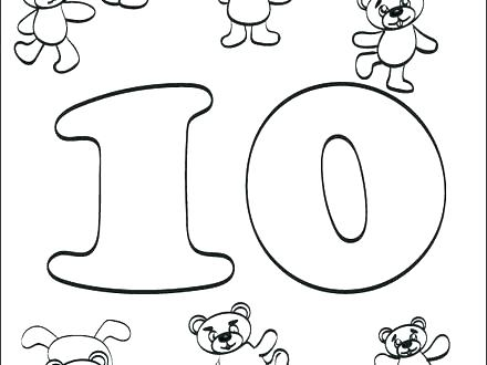 440x330 Coloring Pages Numbers 1 10 Number Animal Themes
