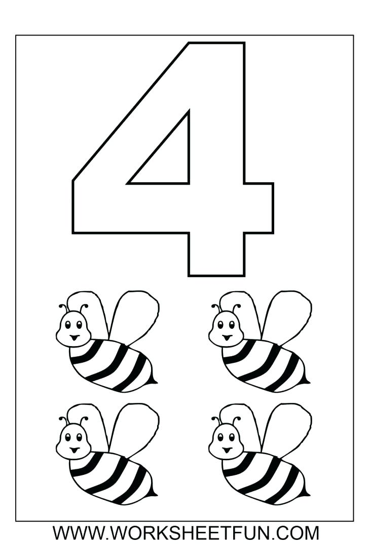 728x1076 Coloring Pages Numbers 1 10 Number 5 Coloring Page Number Coloring