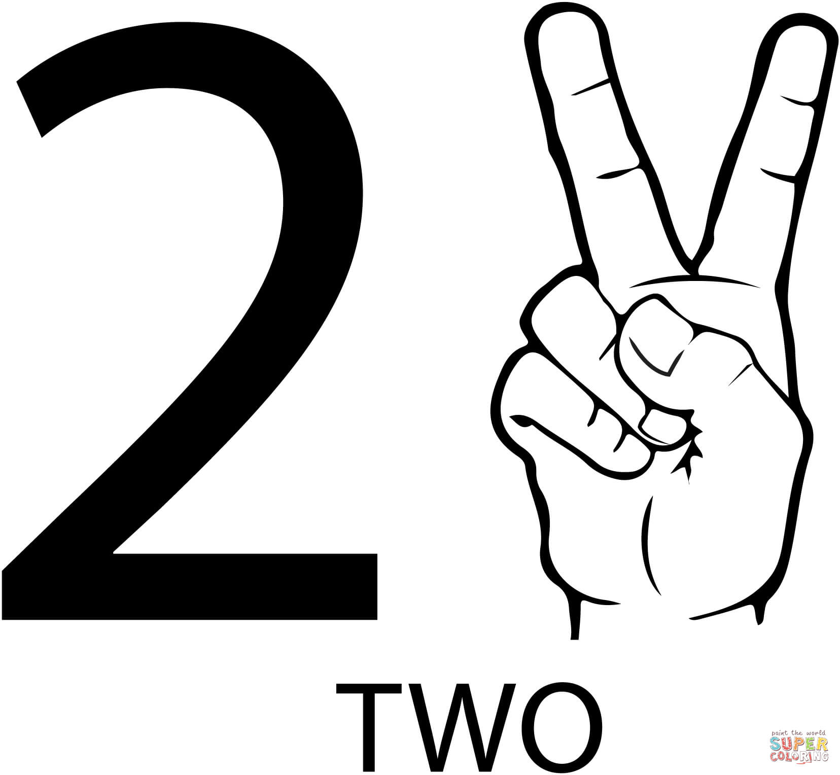 image relating to Number 2 Printable called Amount 2 Drawing at  Totally free for unique seek the services of