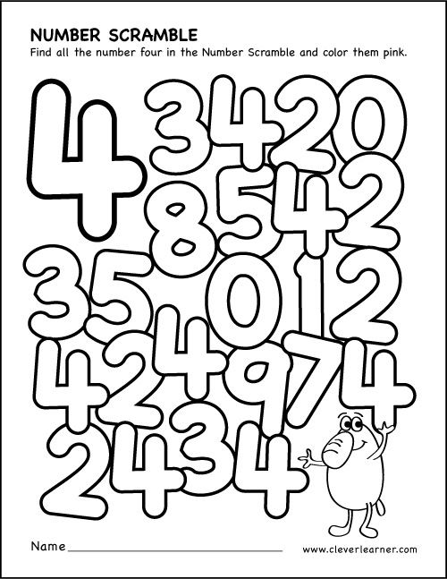 Number 4 Worksheets For Preschool : Number drawing at getdrawings free for personal