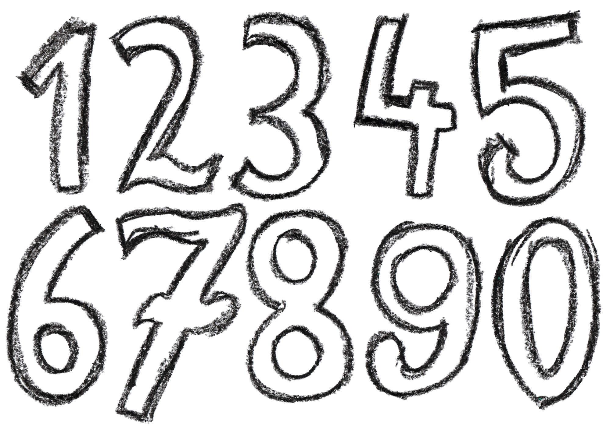 2000x1422 Crayon Number (Png Transparent)