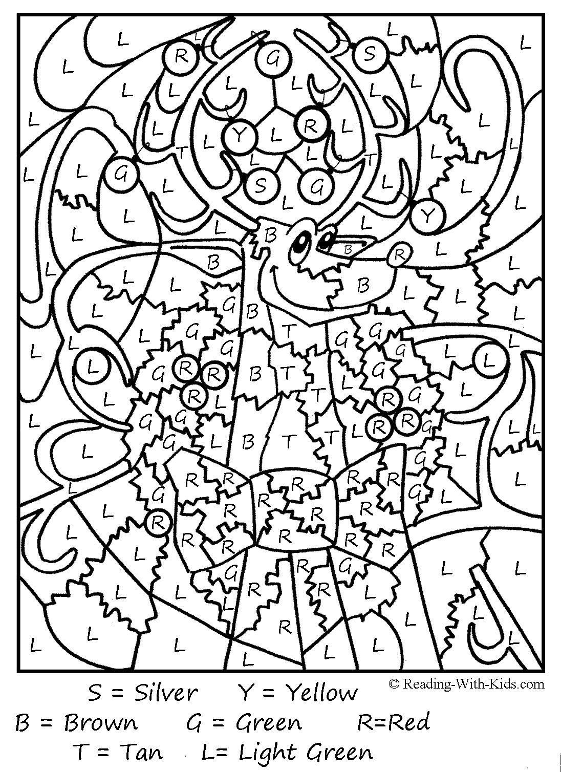 1096x1508 Christmas Color By Number Printable Coloring Pages For Kids