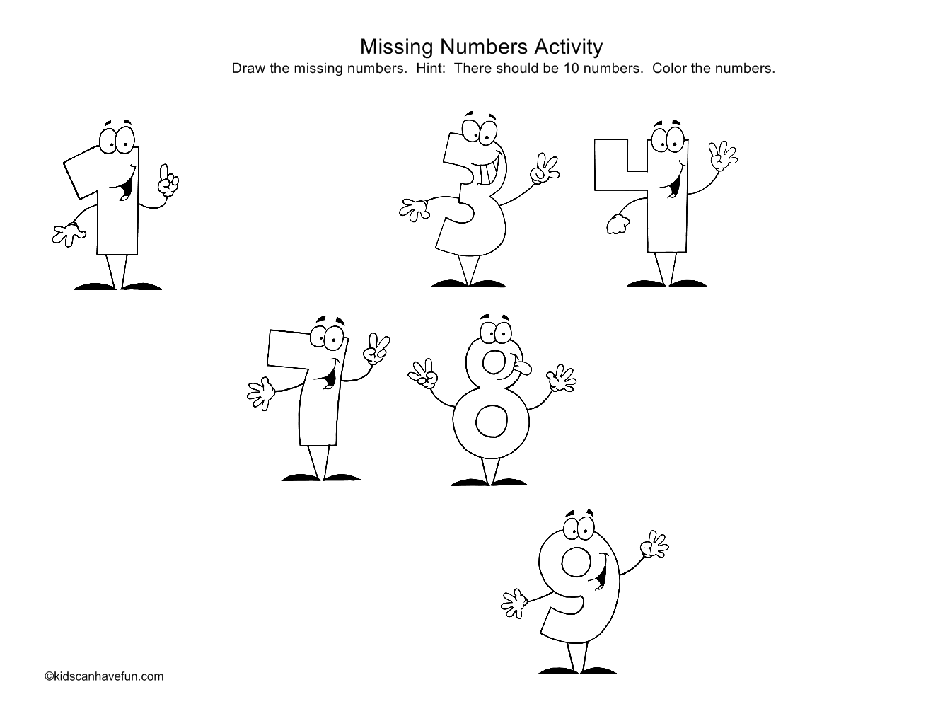 Numbers Drawing For Kids at GetDrawings.com | Free for personal use ...