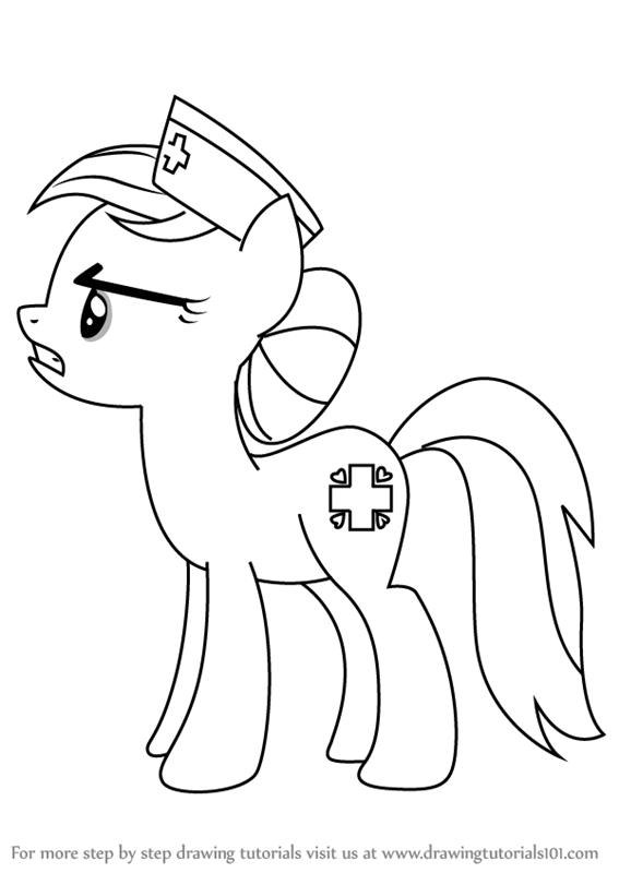 567x800 Learn How To Draw Nurse Redheart From My Little Pony