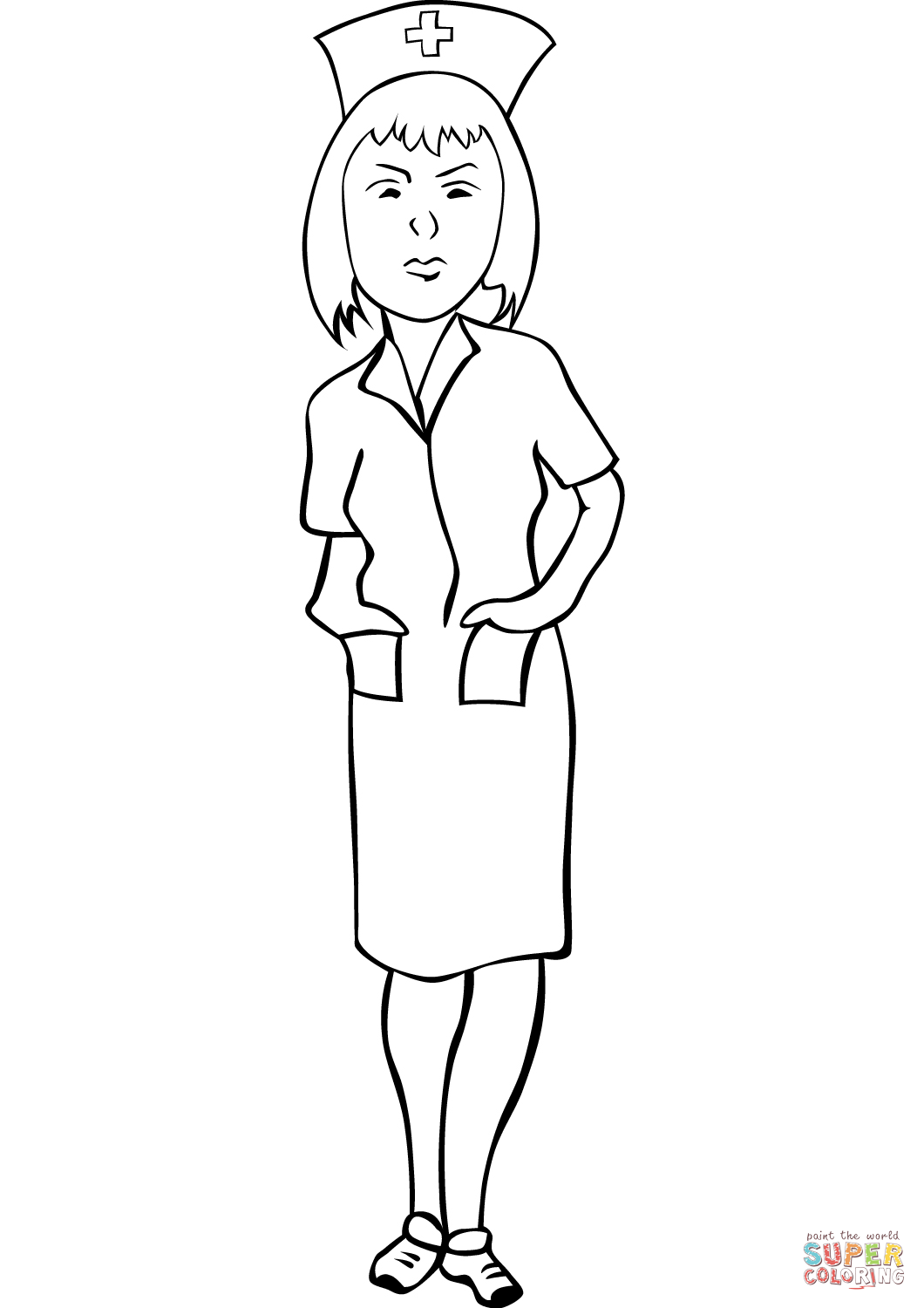 1060x1500 Nurse Coloring Page Free Printable Coloring Pages