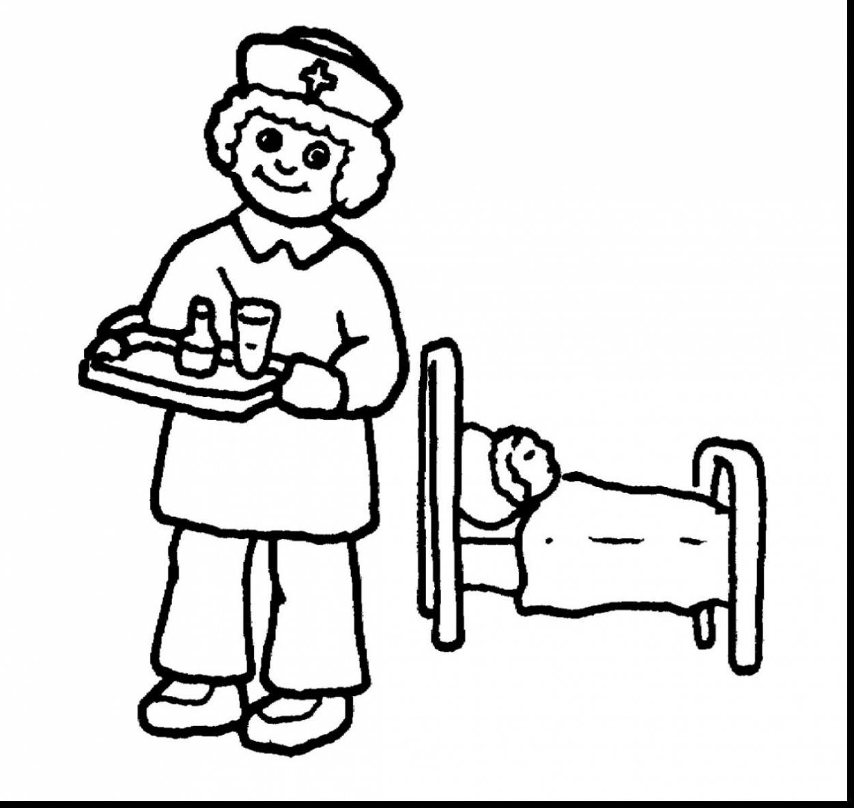1251x1183 Nurse Coloring Pages Kindergarten New Brilliant Doctor And Nurses