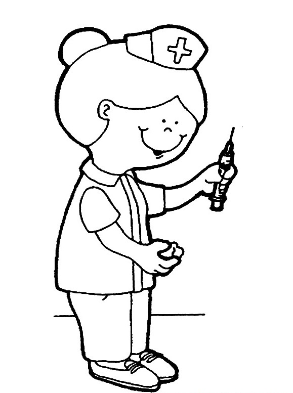 Nurse Coloring Book Pages To Print - Worksheet & Coloring Pages