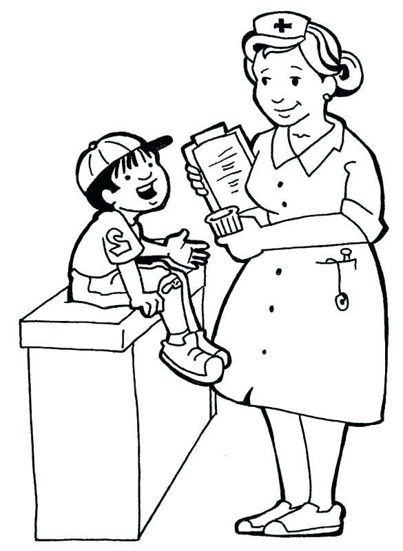 585x800 Nurse Coloring Page Synthesis.site