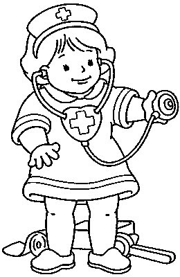 260x400 Transmissionpress Little Nurse Kids Coloring Pages