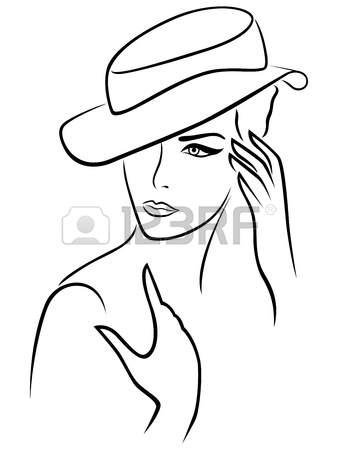 338x450 56,724 Woman Hat Stock Vector Illustration And Royalty Free Woman