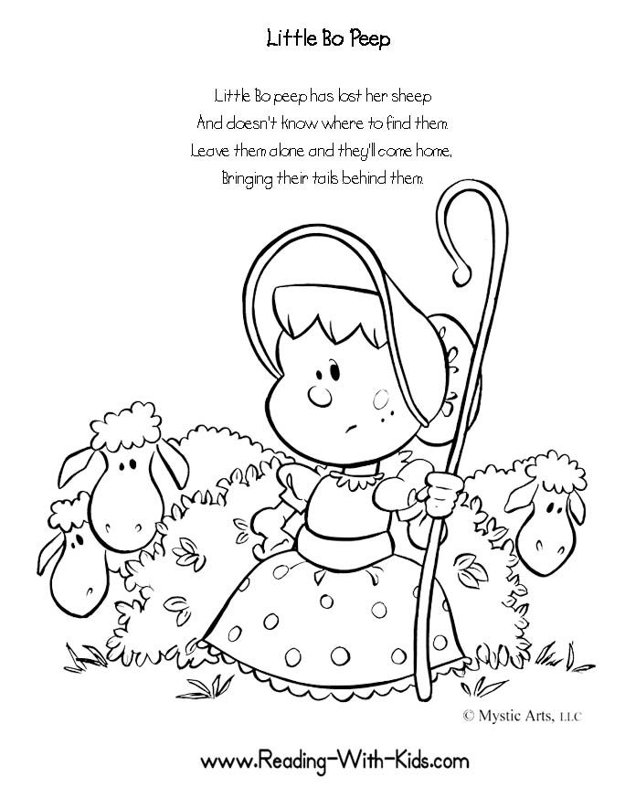 684x885 Nursery Rhymes Coloring Pages Toddlers Colouring To Tiny Draw