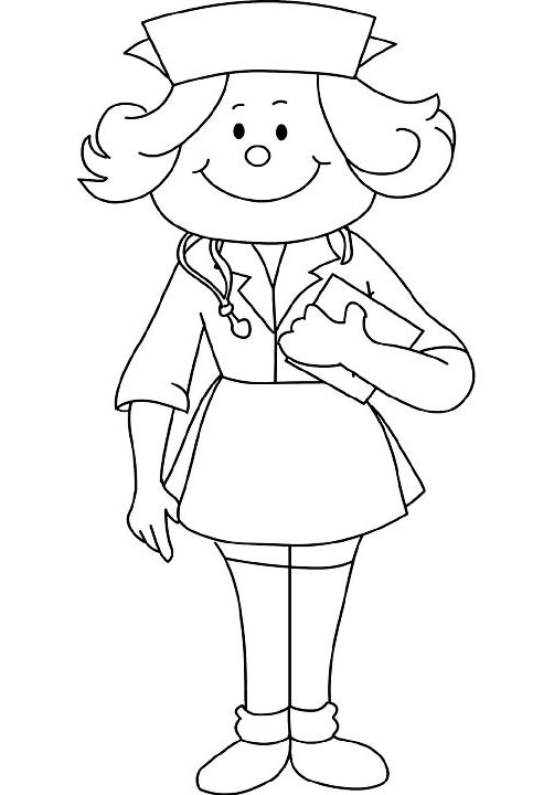 502x720 School Nurse Coloring Pages Coloring Pages School