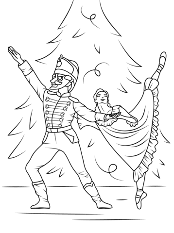 358x480 Nutcracker Ballet Coloring Page Free Printable Coloring Pages