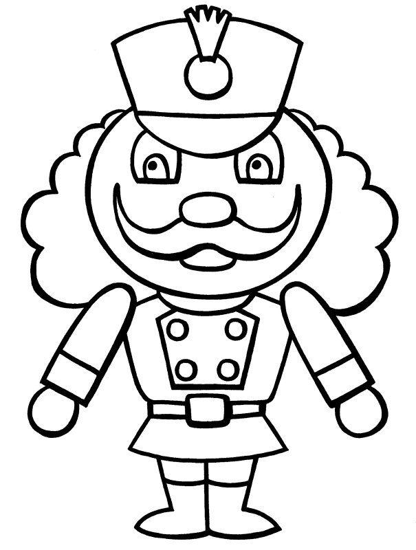 605x800 Nutcracker Color Page Kids Crafts Free Printabl On Nutcracker