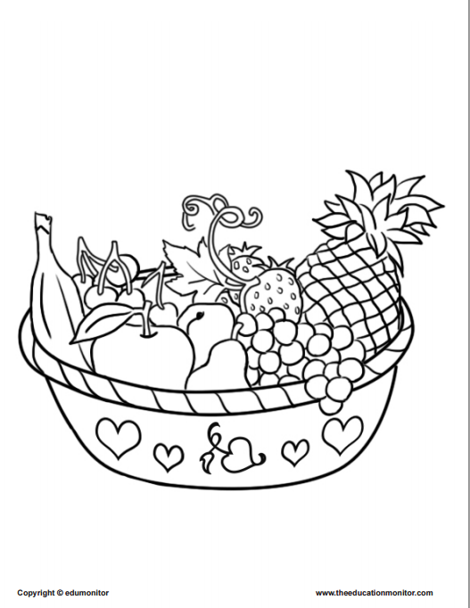 527x682 Coloring Pages For Kids Learning Nutrition Edumonitor