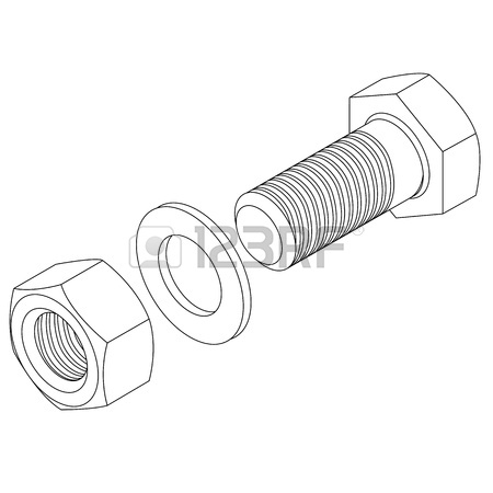 450x450 Screw And Nuts Big Set Royalty Free Cliparts, Vectors, And Stock