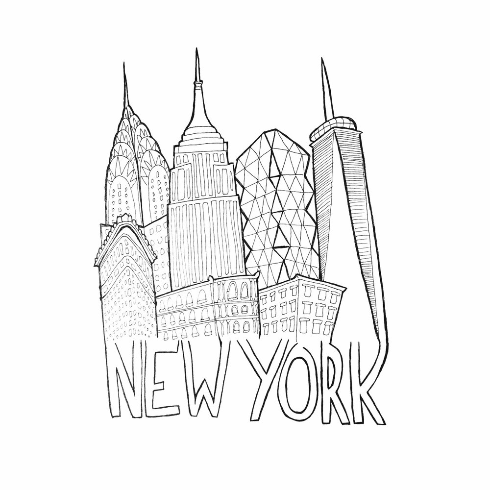 1000x1000 New York City Print That First Year