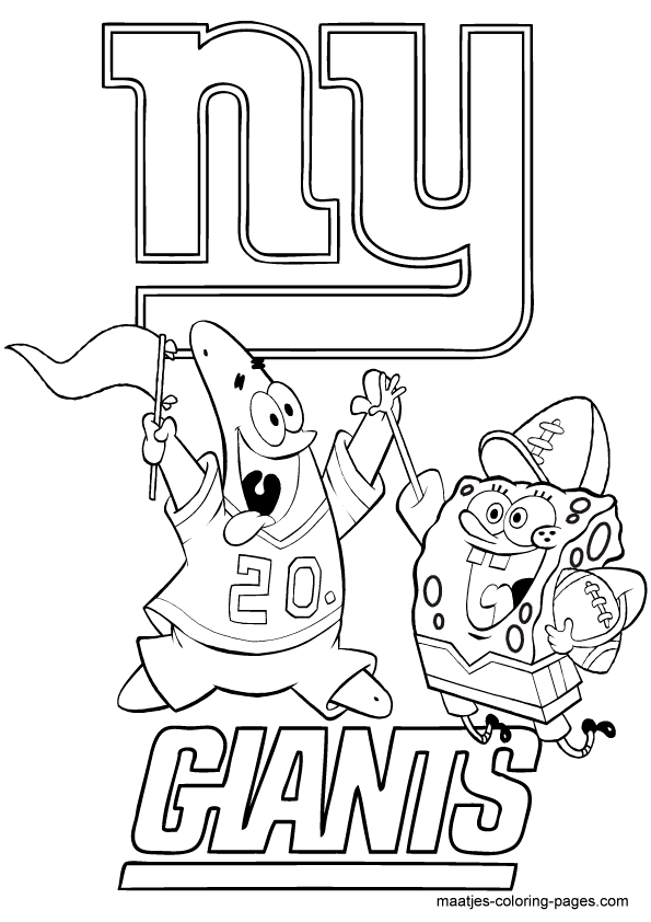 595x842 Ny Giants Coloring Pages