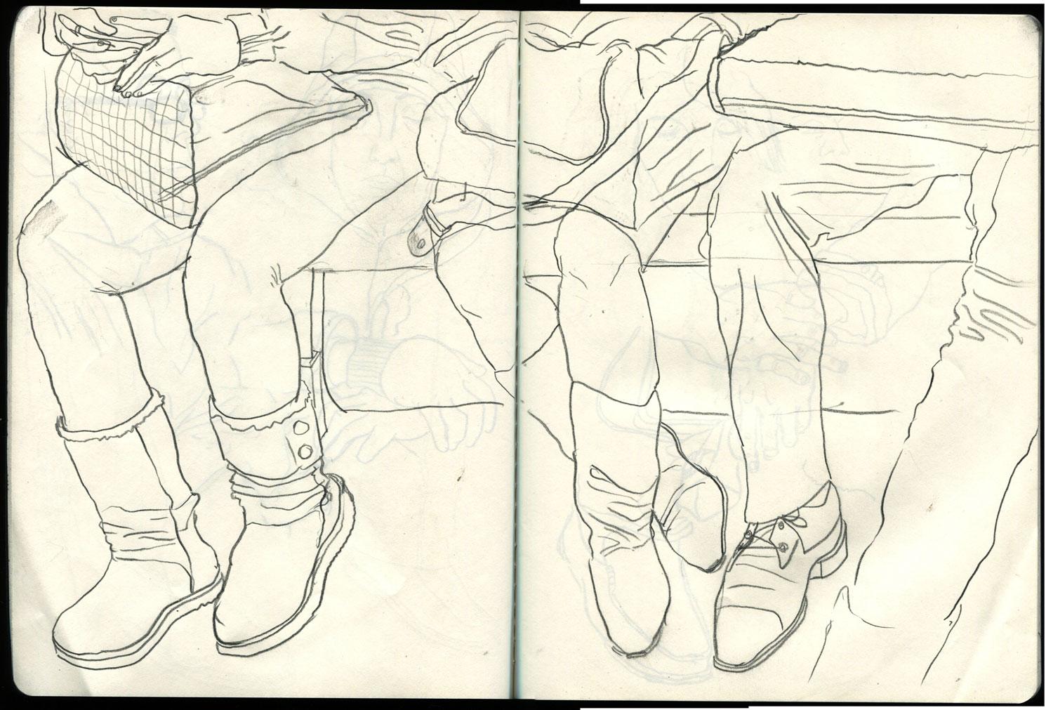 1490x1011 New York City Subway Train Drawings Breaking In A New Sketchbook