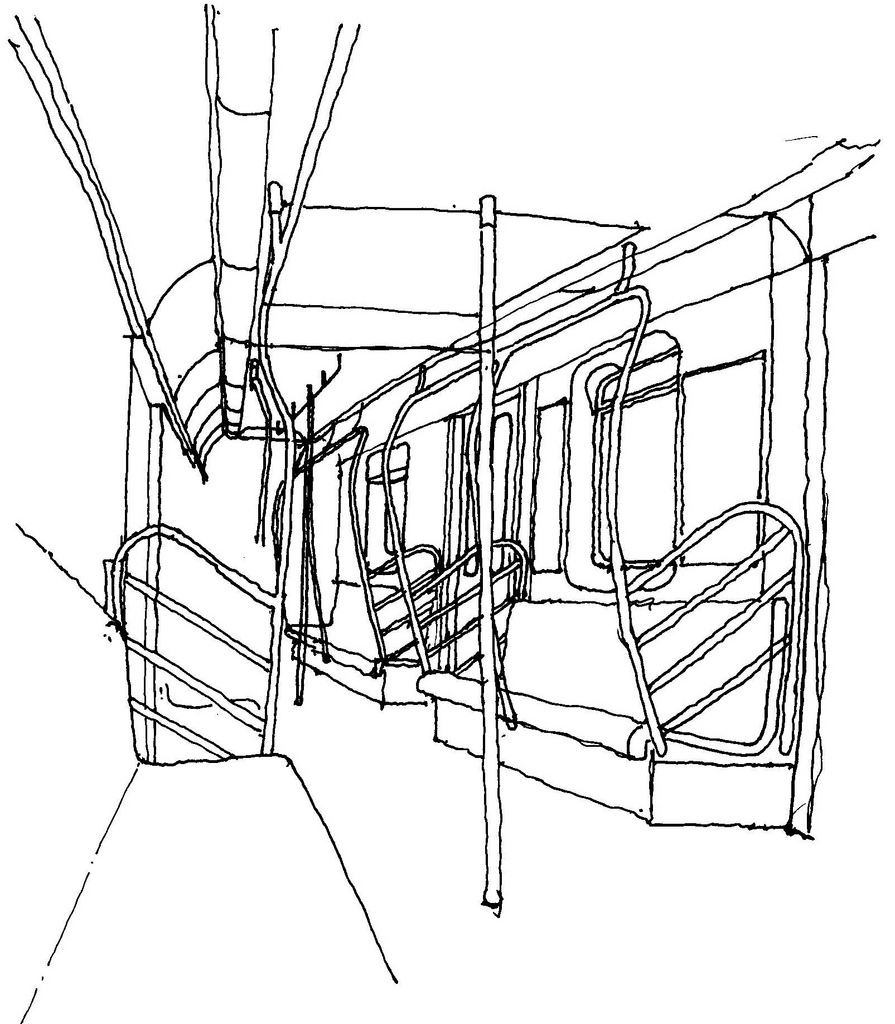 895x1024 Subway Interior A Sketch Of The New Style Nyc Subway