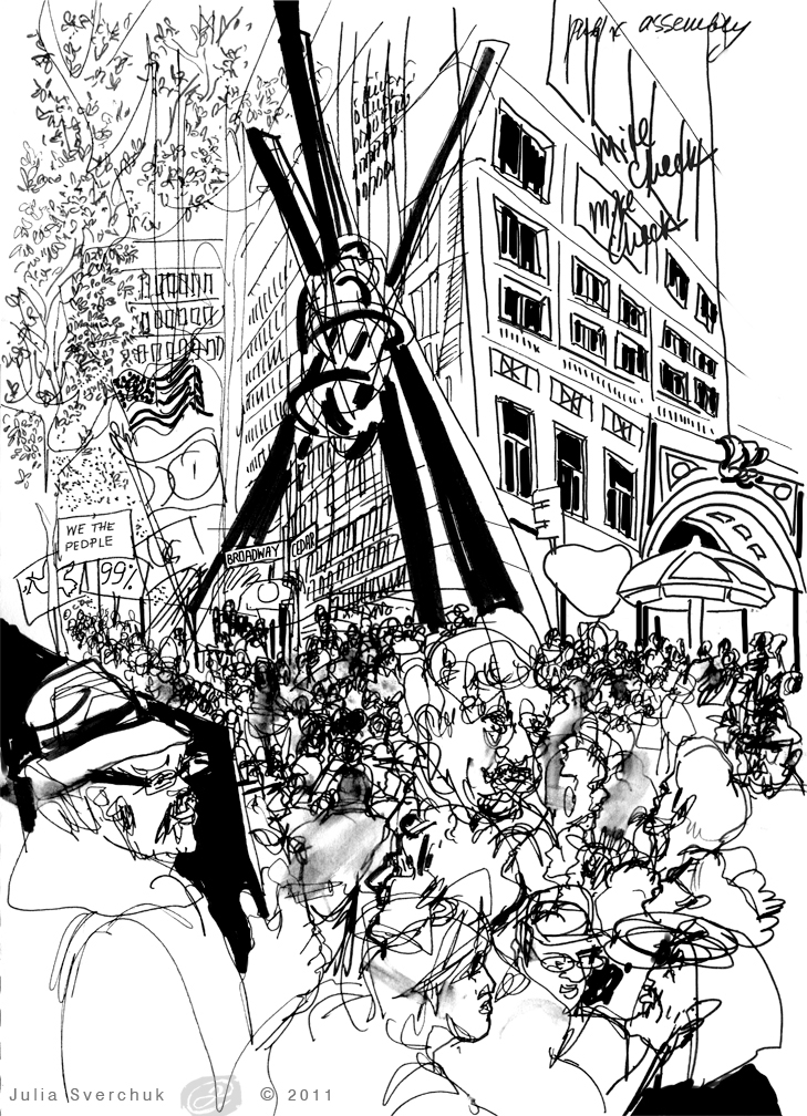 729x1008 Idrawing Occupy Wall Street Nyc Liberty Square Right To Assembly