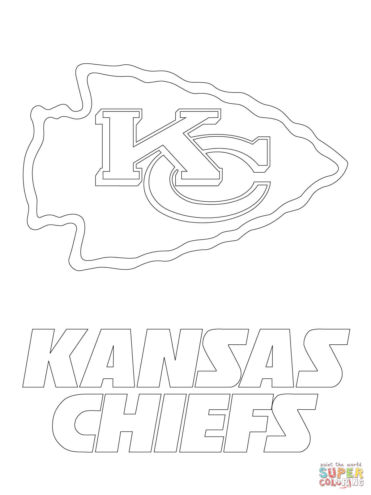 1200x1600 Kansas City Chiefs Logo Coloring Page Free Printable Coloring Pages