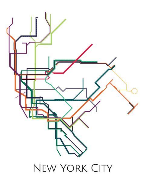 480x576 New York Metro Map Parmar Media