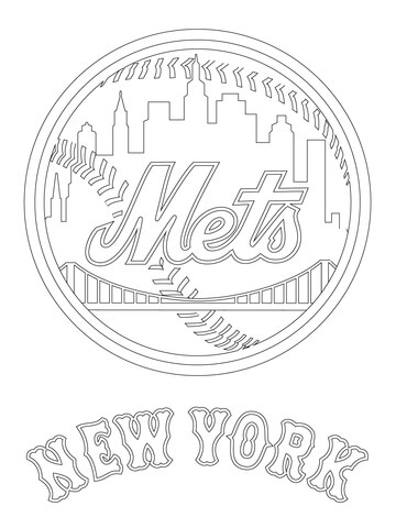 360x480 New York Mets Logo Coloring Page Free Printable Coloring Pages