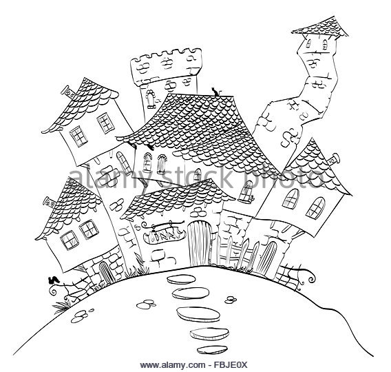 568x540 City Line Drawing Black And White Stock Photos Amp Images