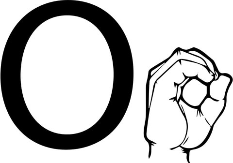 480x337 ASL Sign Language Letter O Coloring Page Free Printable