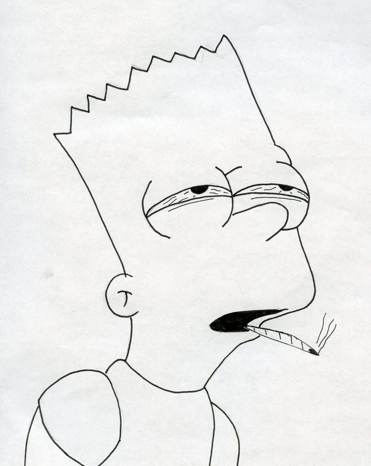 1277x1600 Bart Simpson Drawing Como Desenhar O Bart Simpson De Os Simpsons