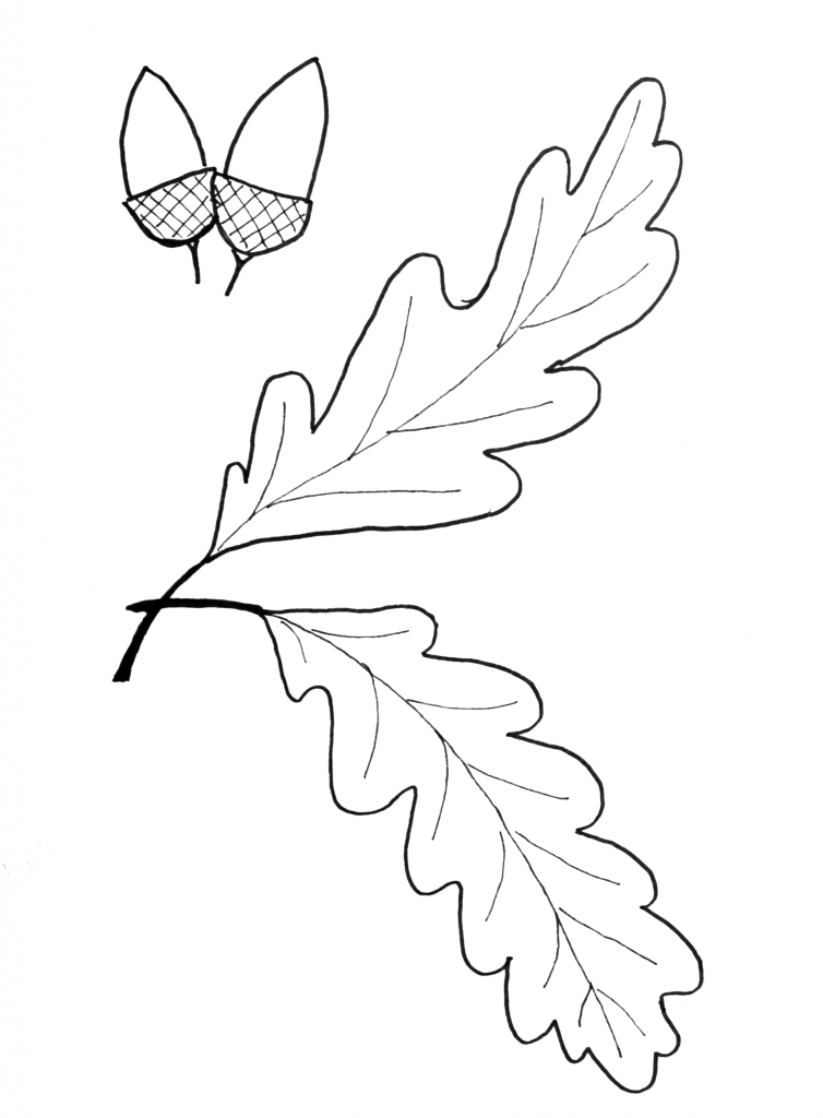 754x1024 Fall Leaf Pattern Printables