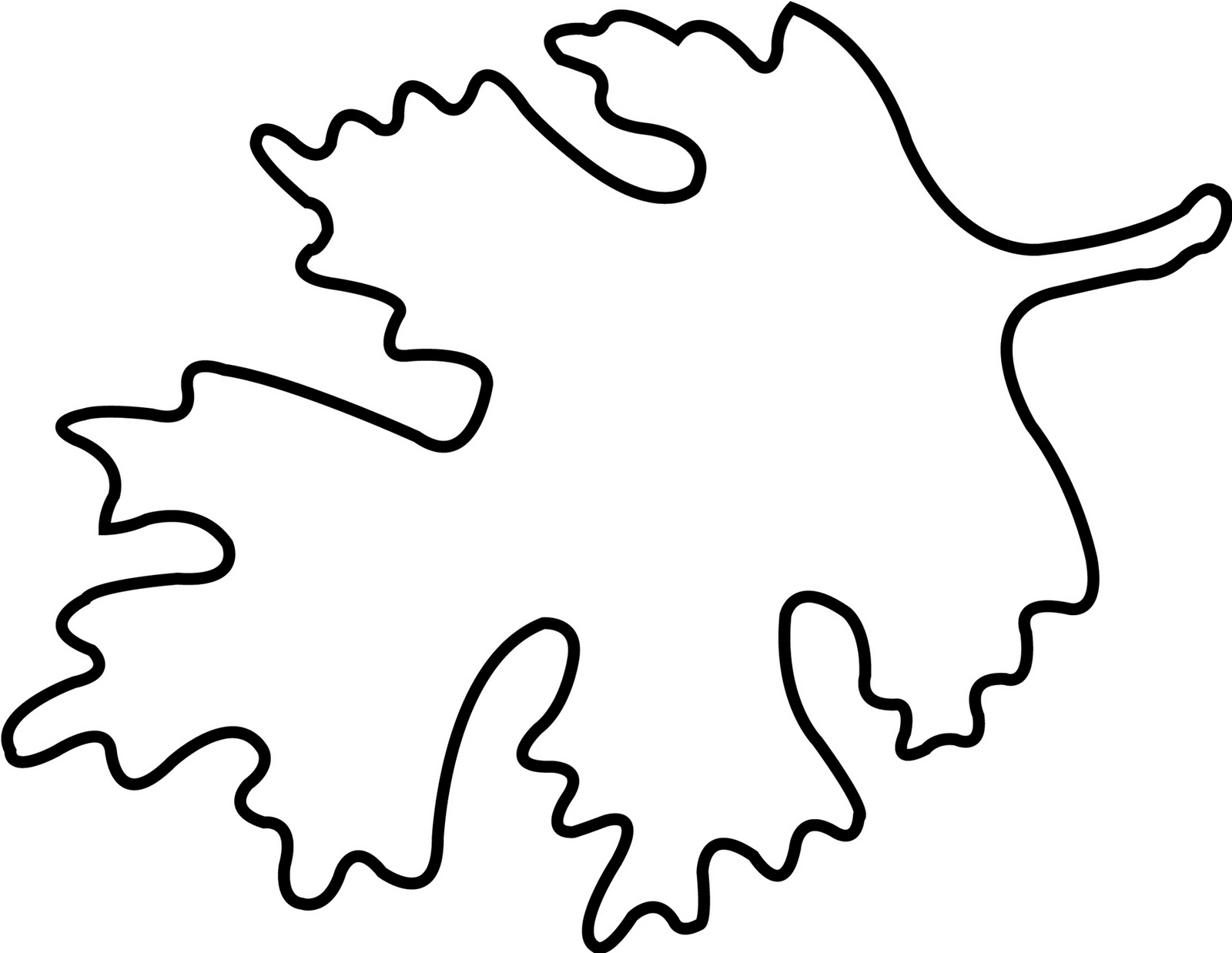 Oak Leaf Drawing Template at GetDrawings.com | Free for personal use ...