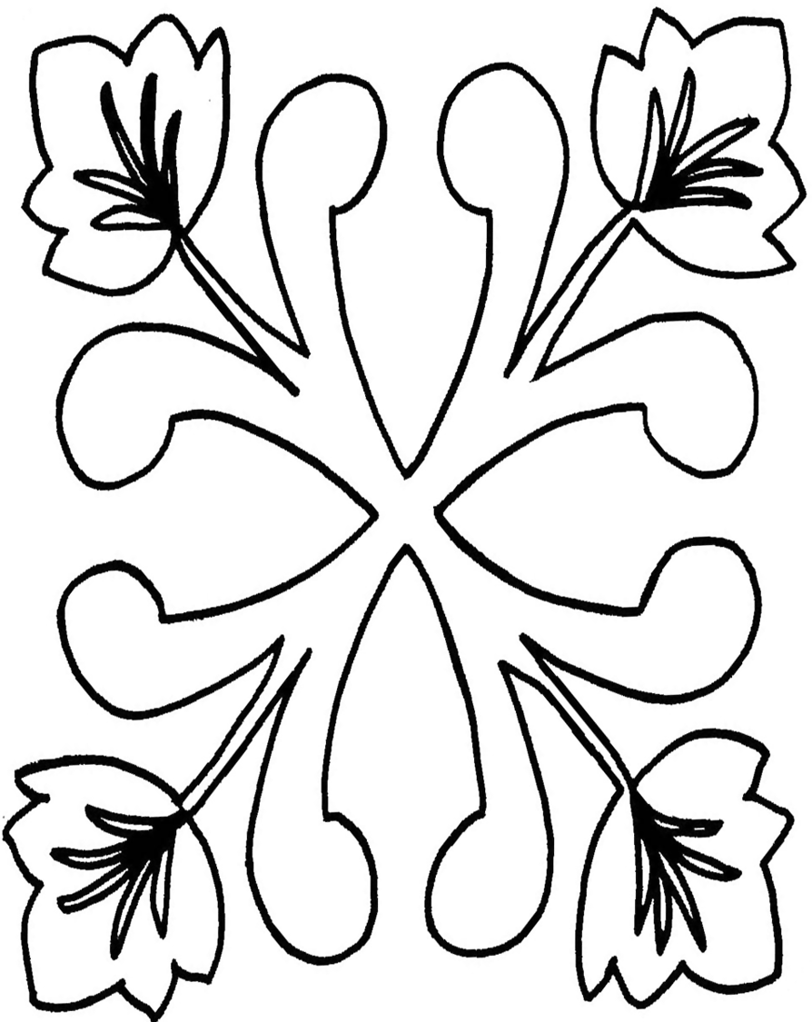 Oak Leaf Line Drawing