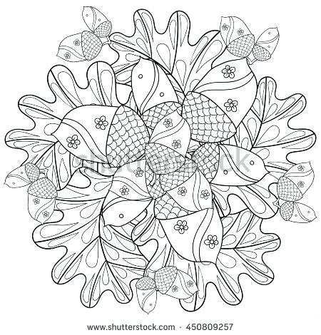 450x470 Oak Leaf Coloring Page White Oak Tree Leaves Coloring Page Oak