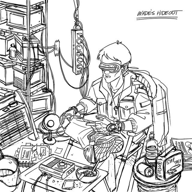 640x640 Image Result For Ready Player One Art Black And White Art Ideas