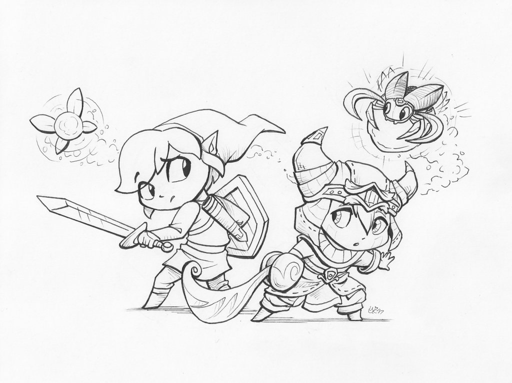 1024x767 Zelda Ever Oasis Crossover (Linesly) By Malimarthemage