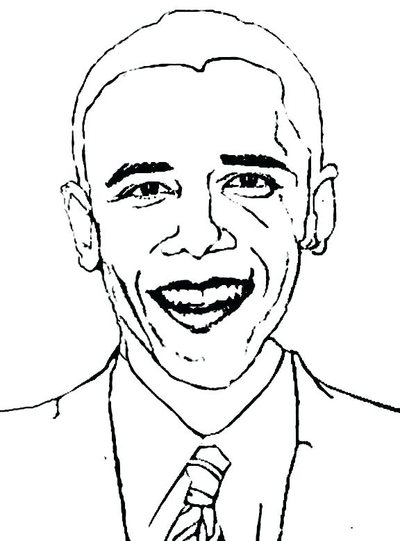 576x778 Awesome Barack Obama Coloring Pages Kids Page Caricature Of Social