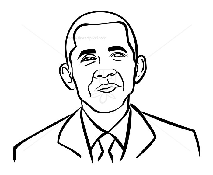 700x576 Obama Outline Free Vectors, Illustrations, Graphics, Clipart