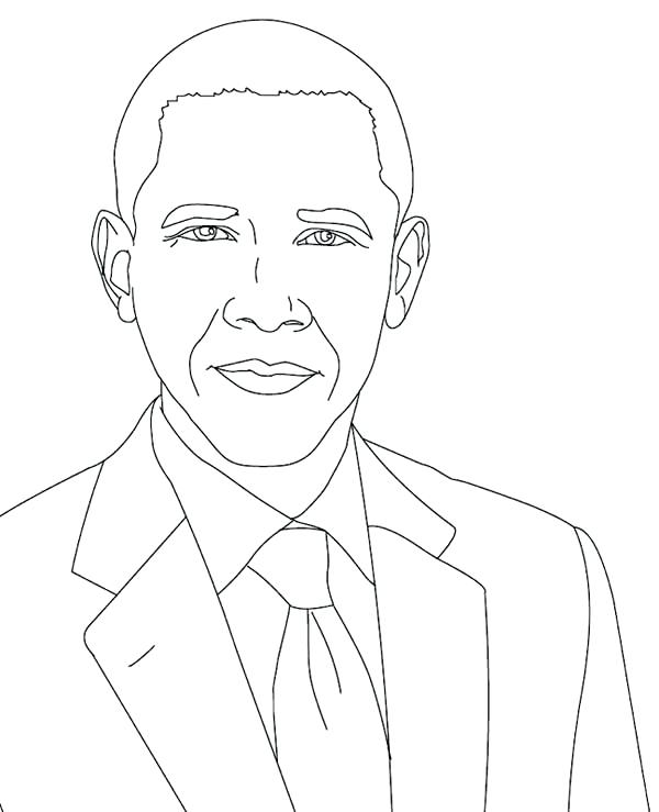 600x739 Perfect President Obama Coloring Page New