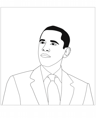 388x480 President Barack Obama Coloring Page Free Printable Coloring Pages